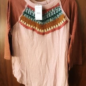 Free People Crochet Front Back Top